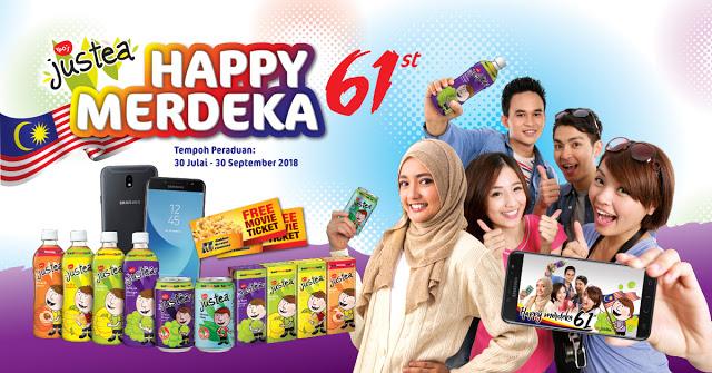 "Peraduan ""Justea Happy 61st Merdeka"", 20x Samsung J7 Pro Untuk Dimenangi"