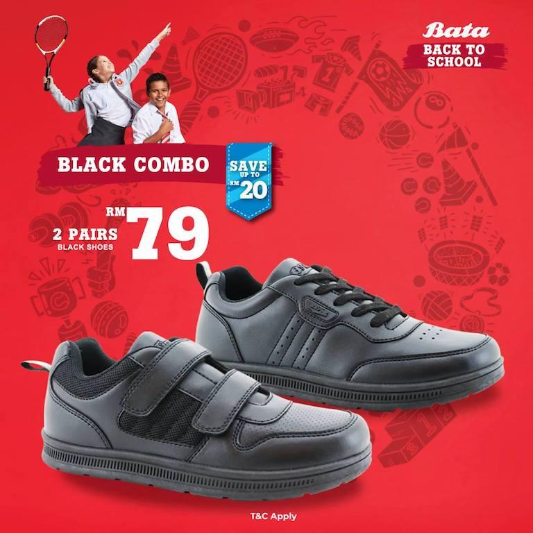 Black Combo Bata Back To School