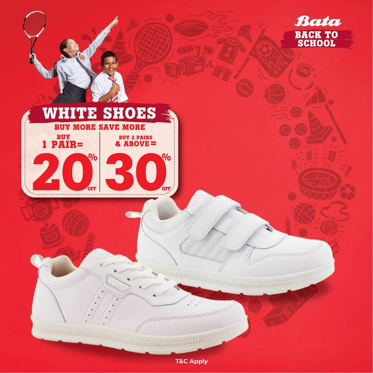 White Shoes Bata Back To School
