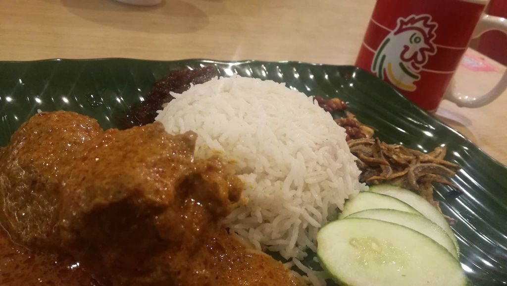 Nasi Lemak Curry Chicken The Chicken Rice Shop