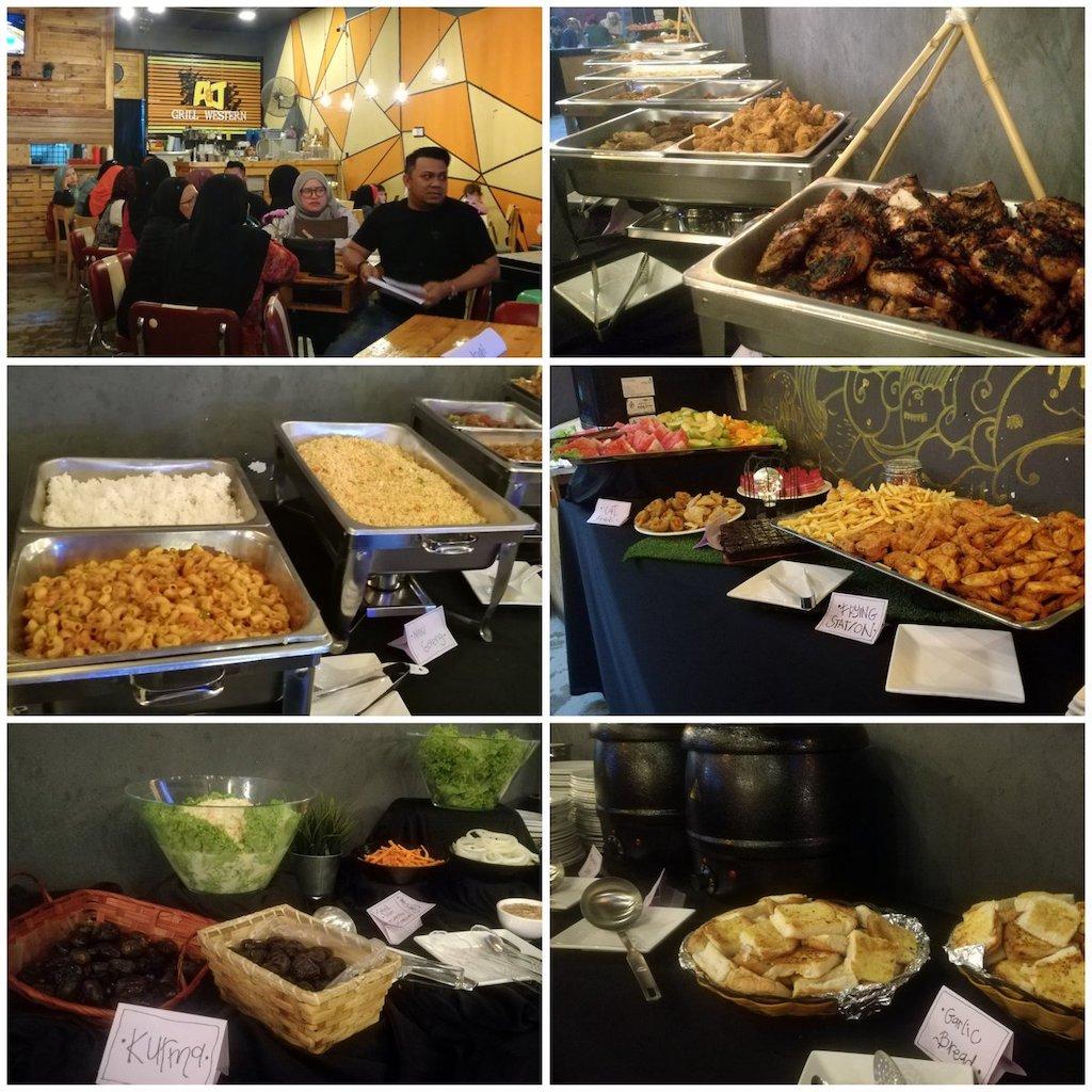 Menu A&J Burger Grill Buffet Ramadhan
