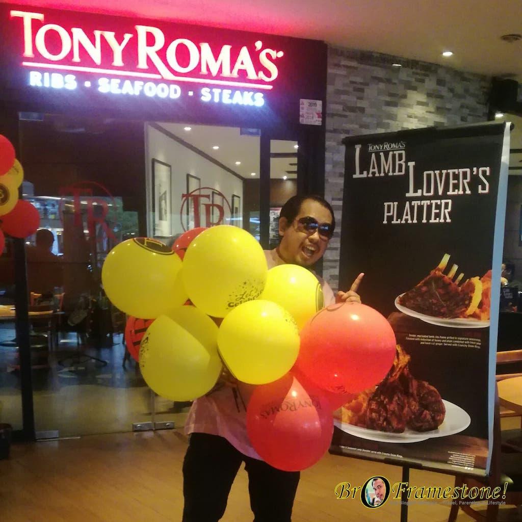 Tony Roma's Lamb Lover's Platter