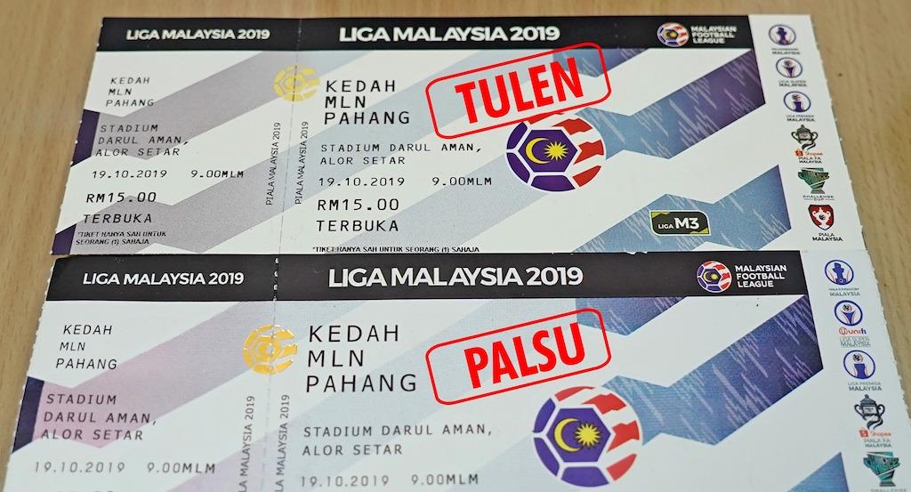 Awas! Tiket Palsu Perlawanan Separuh Akhir Piala Malaysia ~ Kedah lwn Pahang