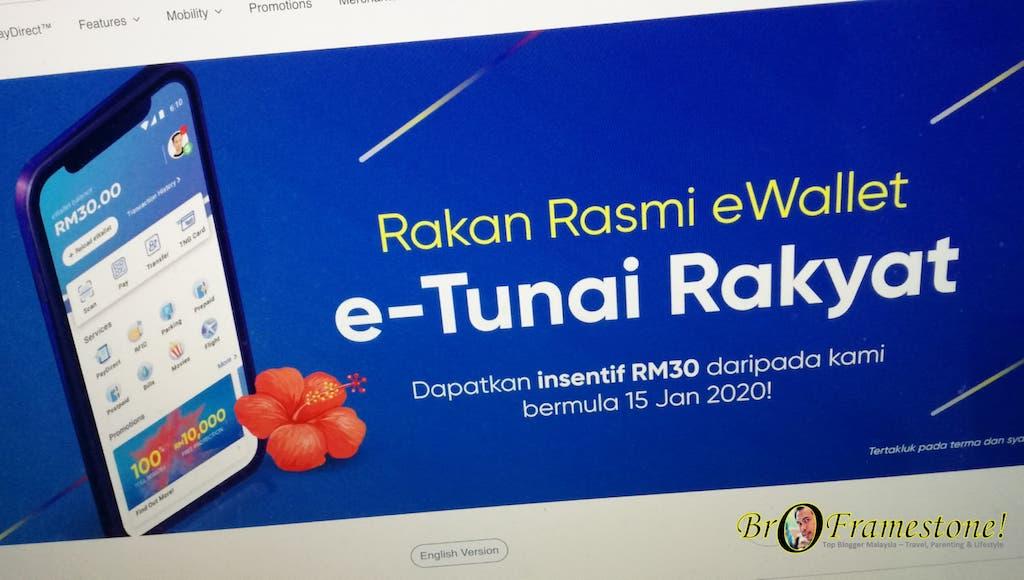 Cara Tebus RM30 'e-Tunai Rakyat' Melalui Touch 'n Go eWallet