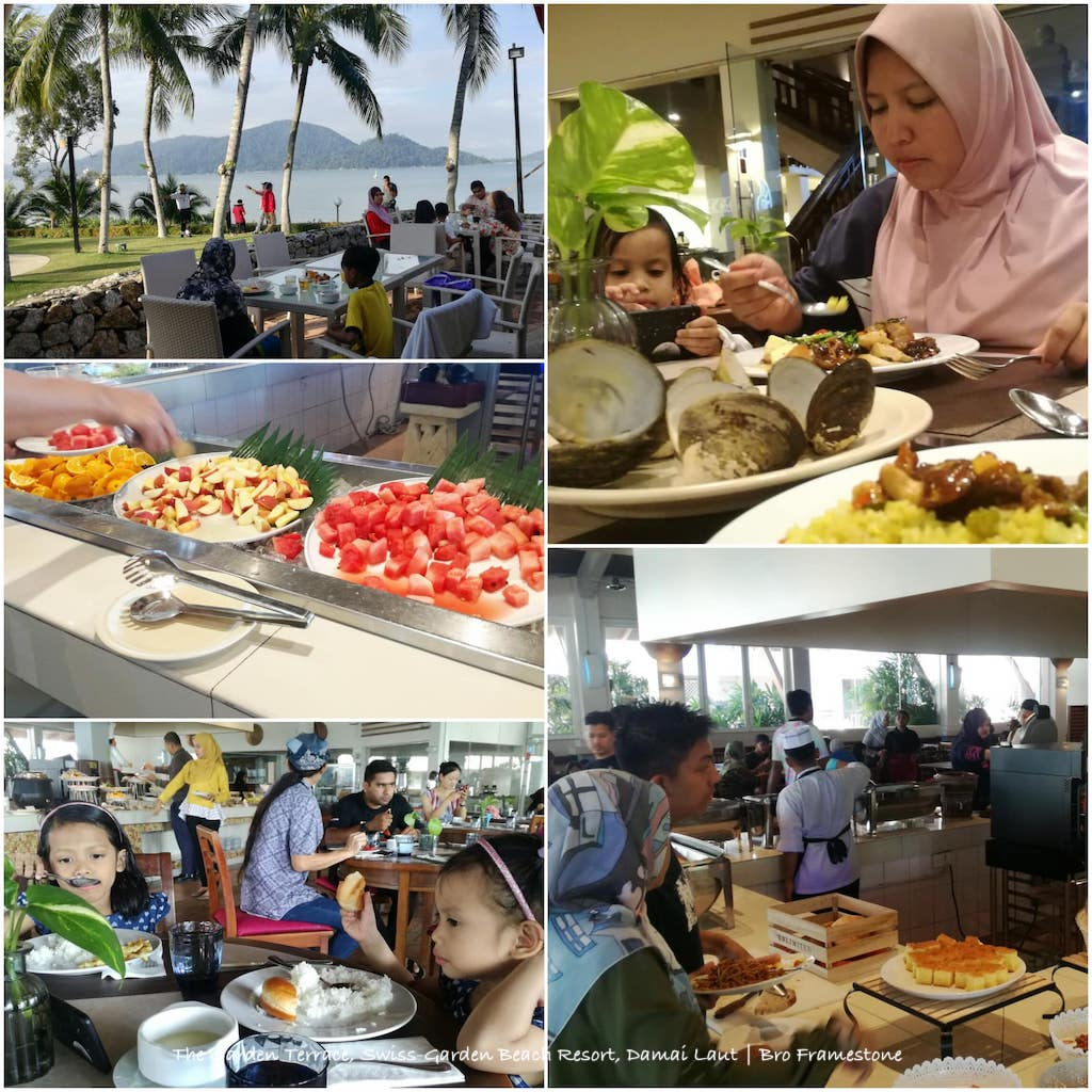 Makan di The Garden Terrace, Swiss-Garden Beach Resort, Damai Laut