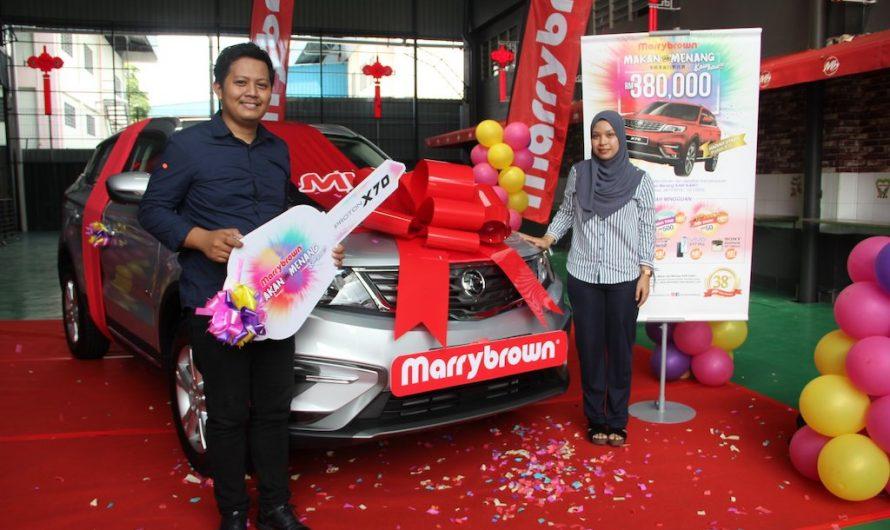 Pemenang Utama Proton X70 Peraduan Makan & Menang Marrybrown