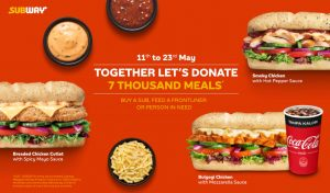 Subway Together Lets Donate