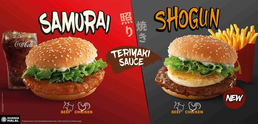 McD Samurai Burger dan Shogun Burger