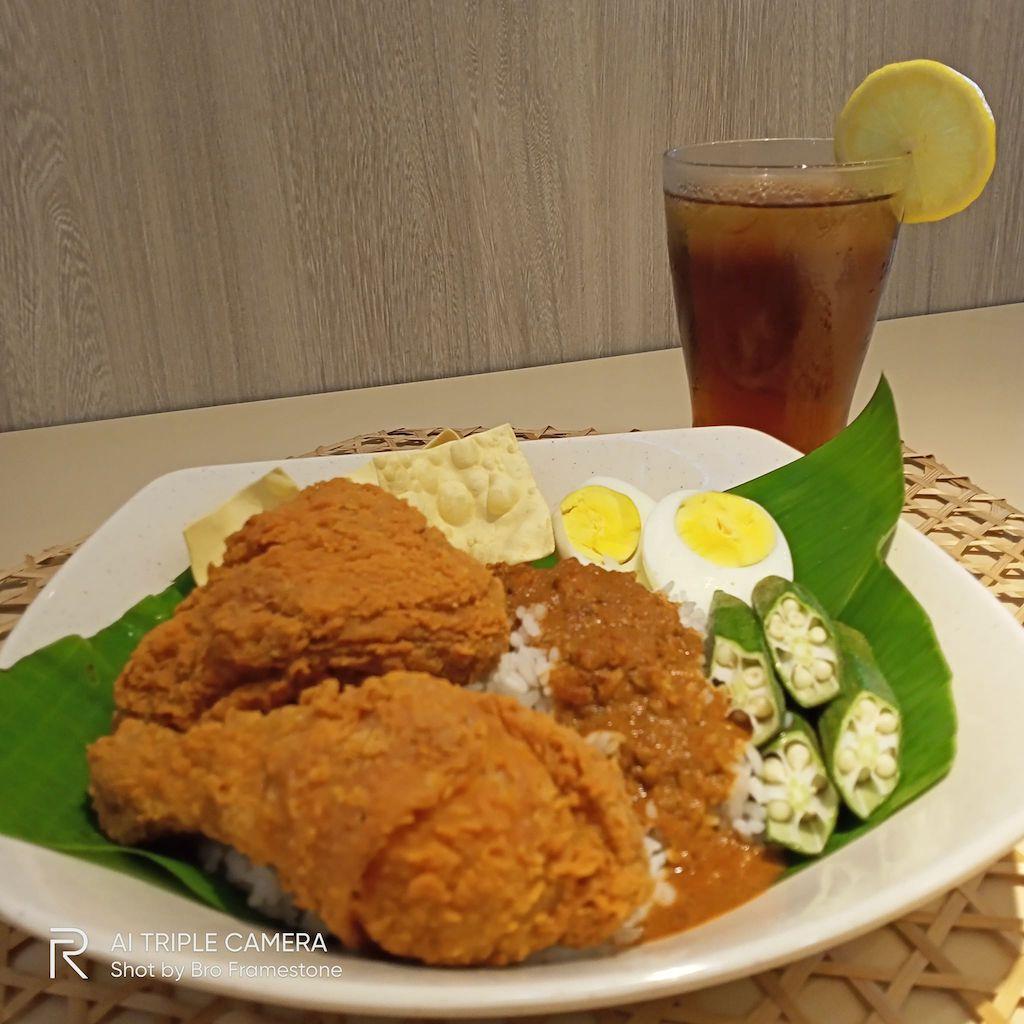 Nasi Kandar Marrybrown 2 Ketul Ayam