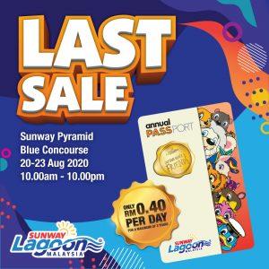 Last Sale Anual Pass Sunway Lagoon