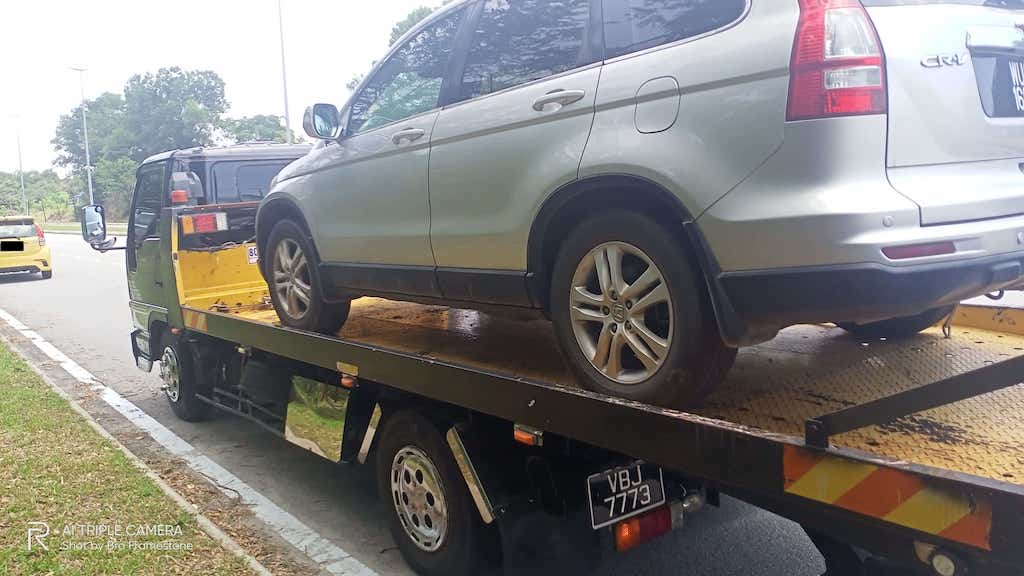 Towing Honda CRV