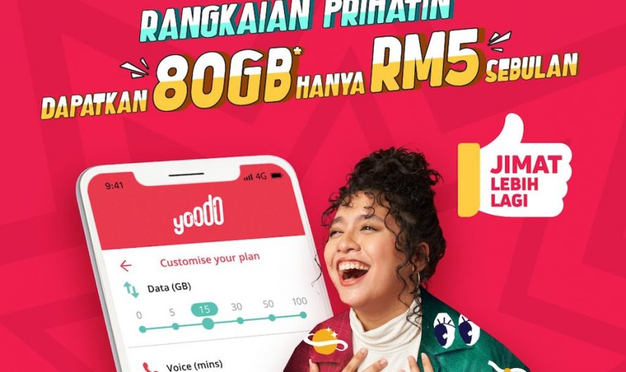 Jaringan Prihatin Yoodo – Menikmati 80GB Data Hanya RM5 Setiap Bulan