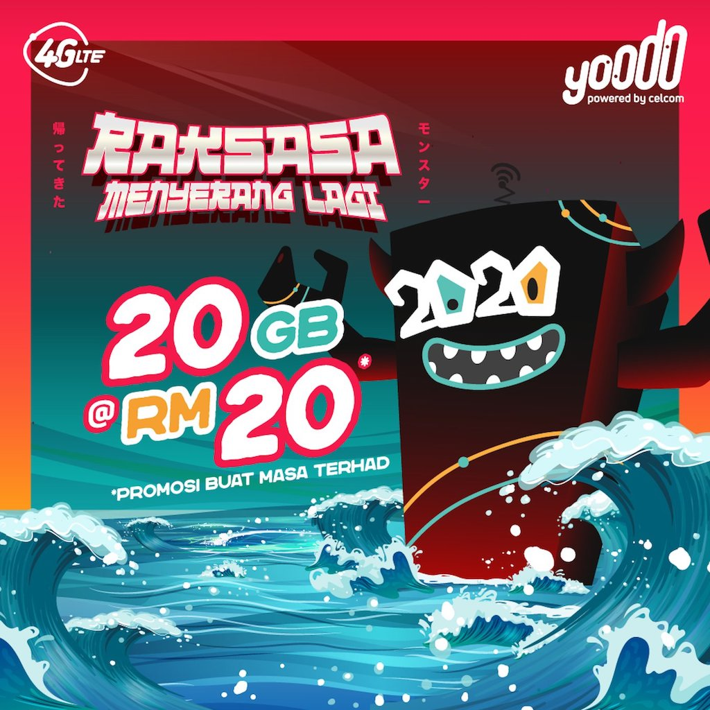 Yoodo 20GB RM20