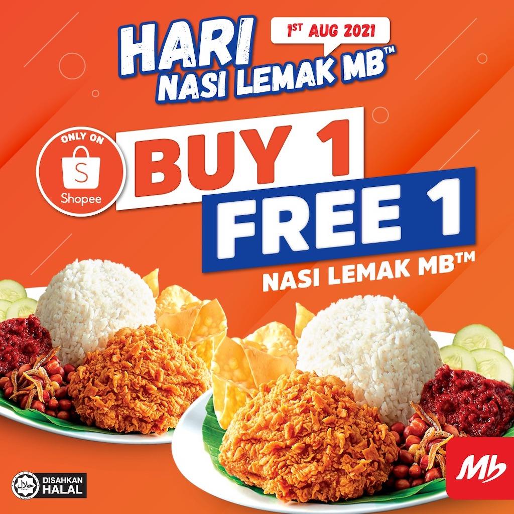 Hari Nasi Lemak MB Buy 1 Free 1