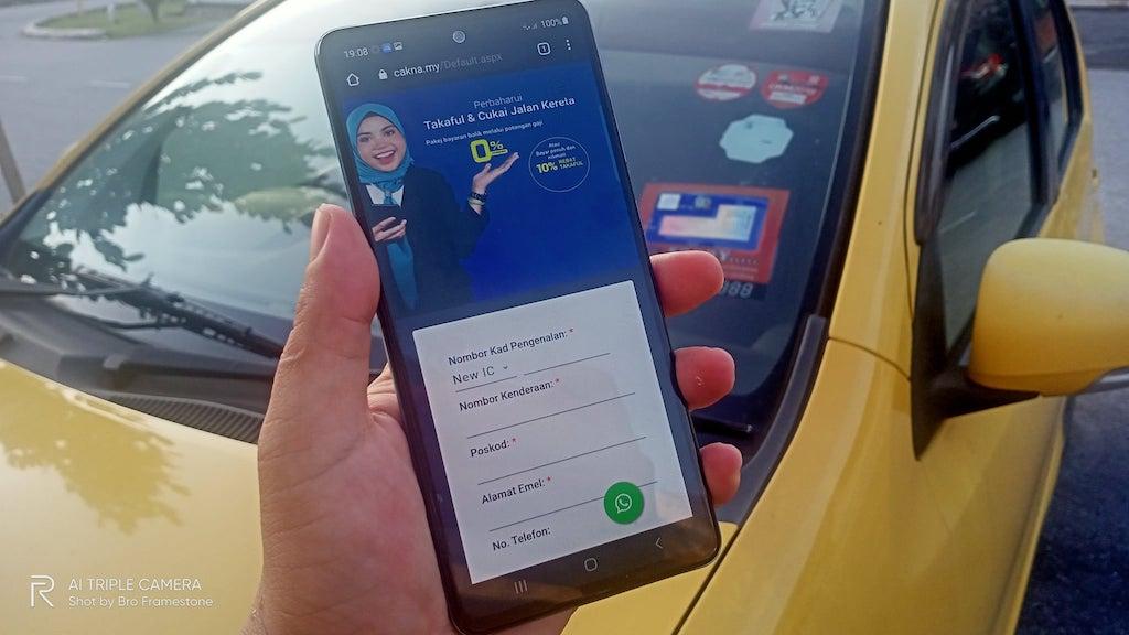 Renew Takaful dan Road Tax Online CAKNA