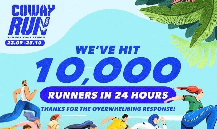 10,000 Tiket Coway Run 2021: Run for Your Region Habis Dijual